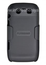 Фирменный пластиковый чехол + кобура PureGear Shell Holster для BlackBerry 9850/9860 Torch, Черный (Black)