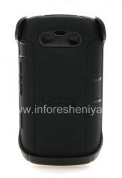 Фирменный пластиковый чехол-корпус повышенного уровня защиты OtterBox Defender Series Case для BlackBerry 9850/9860 Torch, Черный (Black)