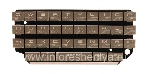 Die ursprüngliche englische Tastatur für Blackberry P'9981 von Porsche Design, Silber, QWERTY
