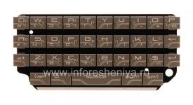 Русская клавиатура для BlackBerry P'9981 Porsche Design (гравировка), Серебряный