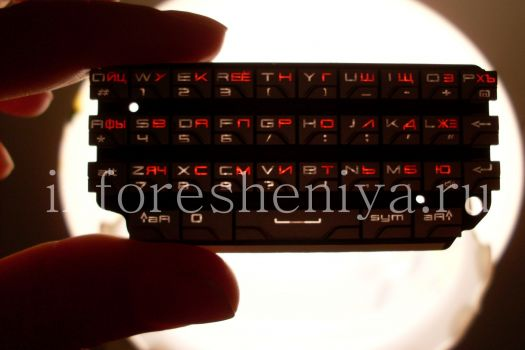 Русская клавиатура для BlackBerry P'9981 Porsche Design (Authentic)