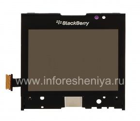Экран LCD в сборке с тач-скрином для BlackBerry P'9981 Porsche Design, Черный, тип 001/111