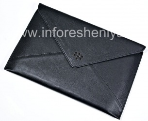 """Оригинальный кожаный чехол """"Конверт"""" Leather Envelope для BlackBerry PlayBook, Черный (Black)"""