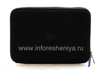 Оригинальный мягкий чехол-папка с молнией Zip Sleeve для BlackBerry PlayBook, Черный/Голубой (Blue/Black)