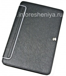 Signature Leather Case Ordner mit Standplatz Case-Mate-Venture-Fall für Blackberry Playbook, Black (Schwarz)