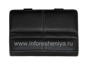 Фирменный кожаный чехол-папка ручной работы с подставкой Monaco Book Type Leather Case Stand для BlackBerry PlayBook