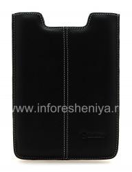 Фирменный кожаный чехол-карман ручной работы Monaco Vertical/Horisontal Pouch Type Leather Case для BlackBerry PlayBook, Черный (Black), Вертикальный (Vertical)