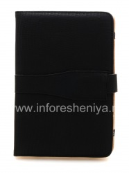 """Кожаный чехол-папка """"Крокодиловый"""" для BlackBerry PlayBook, Черный"""