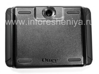 Фирменный пластиковый чехол-корпус повышенного уровня защиты OtterBox Defender Series Case для BlackBerry PlayBook, Черный (Black)
