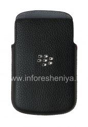 Оригинальный чехол-карман Leather Pocket Pouch для BlackBerry Q10/ 9983, Черный (Black)