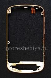 Эксклюзивный ободок для BlackBerry Q10, Золотой (Gold), тип 1 (Шлейф сверху), кнопки металлик
