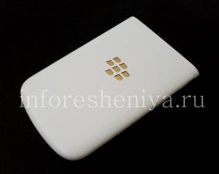 Эксклюзивная задняя крышка для BlackBerry Q10, Белая с золотым логотипом