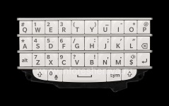 El teclado original Inglés para BlackBerry Q10, Color blanco