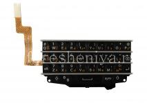 Оригинальная клавиатура в сборке с платой для BlackBerry Q10 (другие языки), Черный, Арабский