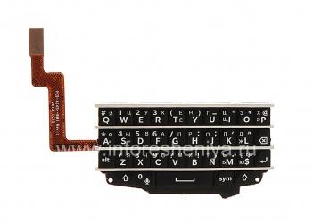 Русская клавиатура в сборке с платой для BlackBerry Q10 (гравировка), Черный