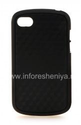 """Силиконовый чехол уплотненный """"Cube"""" для BlackBerry Q10, Черный/Черный"""