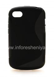 Силиконовый чехол уплотненный Streamline для BlackBerry Q10, Черный