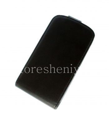 غطاء حقيبة جلد مع فتحة عمودية لبلاك بيري Q10
