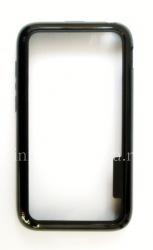 Силиконовый чехол-бампер уплотненный для BlackBerry Q5, Черный