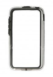 Силиконовый чехол-бампер уплотненный для BlackBerry Q5 (полупрозрачный), Черный