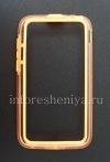 Фотография 1 — Силиконовый чехол-бампер уплотненный для BlackBerry Q5 (полупрозрачный), Оранжевый