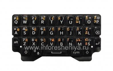 Русская клавиатура для BlackBerry Q5 (гравировка), Черный