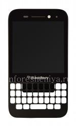 Оригинальный экран LCD в сборке с тач-скрином и ободком для BlackBerry Q5, Черный, тип экрана 001/111