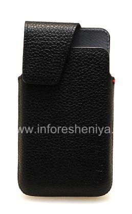 Оригинальный кожаный чехол с клипсой Leather Swivel Holster для BlackBerry Z10/ 9982, Черный (Black)