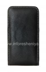 Фирменный кожаный чехол-карман ручной работы с зажимом Monaco Vertical/Horisontal Pouch Type Leather Case для BlackBerry Z10/ 9982, Черный (Black), Вертикальный (Vertical)