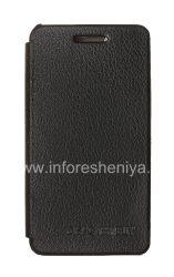 Фирменный кожаный чехол горизонтально открывающийся DiscoveryBuy для BlackBerry Z10, Черный