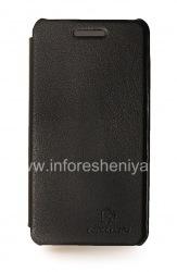 Фирменный кожаный чехол горизонтально открывающийся Nillkin для BlackBerry Z10, Черный, Кожа