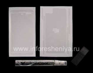 Фирменная защитная пленка Ультрапрозрачная для экрана и корпуса Clear-Coat для BlackBerry Z10, Прозрачный