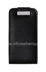 Кожаный чехол с вертикально открывающейся крышкой для BlackBerry Z10, Черный, Крупная текстура