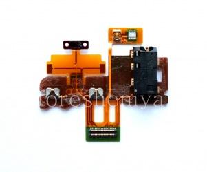 Микросхема датчиков с аудиоразъемом и кнопкой включения для BlackBerry Z30