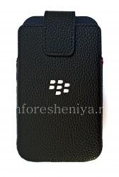 Original-Ledertasche mit Clip für Leather Swivel Holster Blackberry Classic, Black (Schwarz)