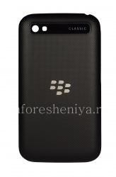 Оригинальная задняя крышка для BlackBerry Classic, Черный рельефный (Black)