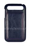 Фотография 1 — Кожаный чехол-крышка для BlackBerry Classic, Голубой