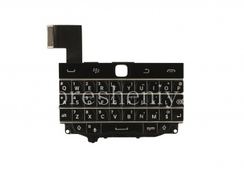 The original English keyboard assembly with the board (without the trackpad) for BlackBerry Classic, The black