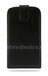 Кожаный чехол с вертикально открывающейся крышкой для BlackBerry Classic, Черный, Мелкая текстура