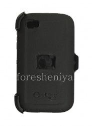 Фирменный пластиковый чехол-корпус повышенной прочности + кобура OtterBox Defender Series Case для BlackBerry Classic, Черный (Black)