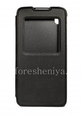 Buy حالة الجلد الأصلي مع الآخر غطاء فليب الذكية لبلاك بيري DTEK50