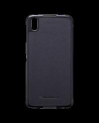 Оригинальный пластиковый/ кожаный чехол Hard Shell Case для BlackBerry DTEK50, Черный (Black)