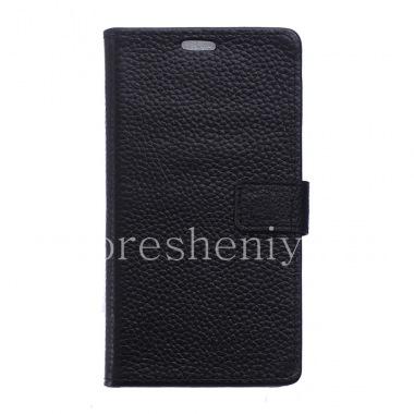"""Купить Кожаный чехол горизонтально открывающийся """"Классический"""" для BlackBerry DTEK50"""