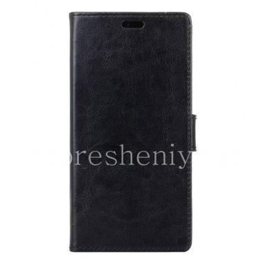 Купить Кожаный чехол горизонтально открывающийся с функцией подставки для BlackBerry DTEK50