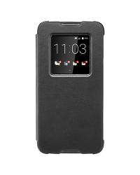 Оригинальный кожаный чехол с открывающейся крышкой Smart Flip Case для BlackBerry DTEK60, Черный (Black)