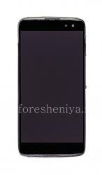 Экран LCD в сборке с тач-скрином и ободком для BlackBerry DTEK60, Серый (Earth Silver)