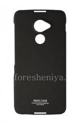 当社はプラスチックカバー、BlackBerry DTEK60ためIMAKサンディシェルをカバー, ブラック(黒)