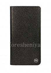 Оригинальный кожаный чехол с открывающейся крышкой Flip Case для BlackBerry KEY2 LE, Черный (Black)