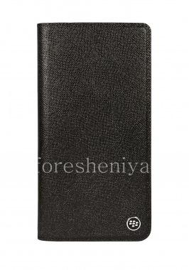 Купить Оригинальный кожаный чехол с открывающейся крышкой Flip Case для BlackBerry KEY2 LE