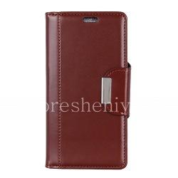 Кожаный чехол-книжка для BlackBerry KEY2 LE, Коричневый